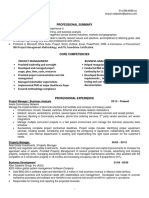 Project Manager Business Analyst in St Louis Resume Sharon DelPietro