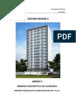 Anexo 2 - Memoria de Acabados - Ocean House 2 - Junio 2016