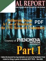 Deception Rendlesham Forest Case Pt 1 by Peter Robbins 2014