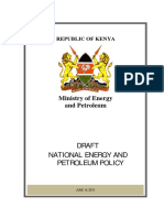 National Energy Petroleum Policy August 2015