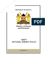Kenya National Energy Policy - Final Draft