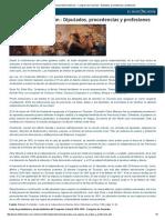 Congreso de Tucuman - Procedencias y Profesiones