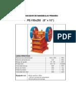 Chancador Pe 150x250
