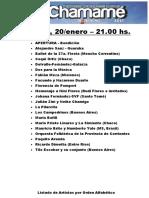 Programación completa de la Fiesta Nacional del Chamamé 2017