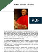 Monarchist Profile - Fabrizio Cardinal Ruffo