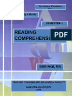 Cover- Buku Ajar MK Reading Comprehension-1