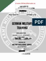 1942 US Army WWII German Military Training