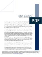 What is an Registered Investment Adviser (RIA)