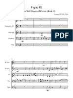 Fugue IX (Book II) - Brass Quintet - Full Score