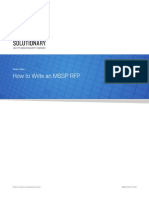 How to Write an MSSP RFP