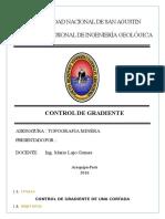 Informe de Control de Gradiente
