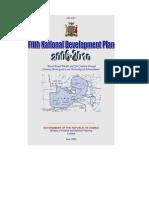 Fifth National Development Plan