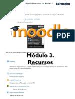 Manual de Moodle 3.0 Módulo 3 Recursos