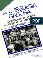 PESAVENTO, Sandra. a Burguesia Gaúcha