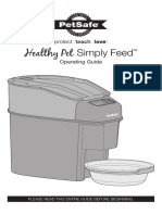 PFD00-14574 Healthy Pet Simply Feed Product Manual