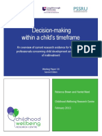 Decision-making Within a Child s Timeframe
