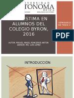 Autoestima en Alumnos Del Colegio Byron, 2016