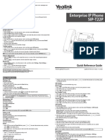 Yealink SIP-T22P Quick Reference Guide V71 140