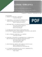 Rev. Analisis Grupal Vol.1 No.1 Diciembre 1983