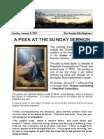 Pastor Bill Kren's Newsletter - January 8, 2017