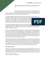 Posicionamiento Justicia Penal Juvenil 2017