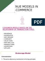 Revenue Models in E-commerce