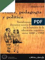 Carli Sandra. Niñez, Pedagogía y Política.