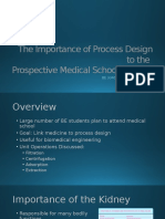 the importance of process design to the prospective medical student