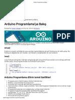 Arduino Programlama'Ya Bakış