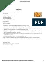Comida e Receitas - Acarajé Da Bahia