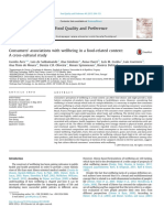 Consumers' Associations With Wellbeing in a Food-related Context