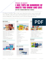 Box Top Product Lists