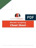 Blender Sculpting Cheat Sheet v2.0 Color