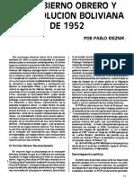 Pablo Rieznik, El POR en La Revolución Boliviana de 1952 (Reedición)