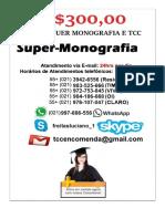 ENCOMENDA VENDA COMPRA MONOGRAFIA TCC ARTIGO ABNT