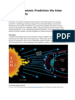 Advanced Seismic Prediction via Solar Wind Velocity