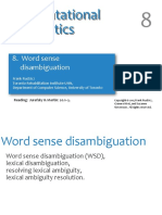 8 Word Sense Disambiguation
