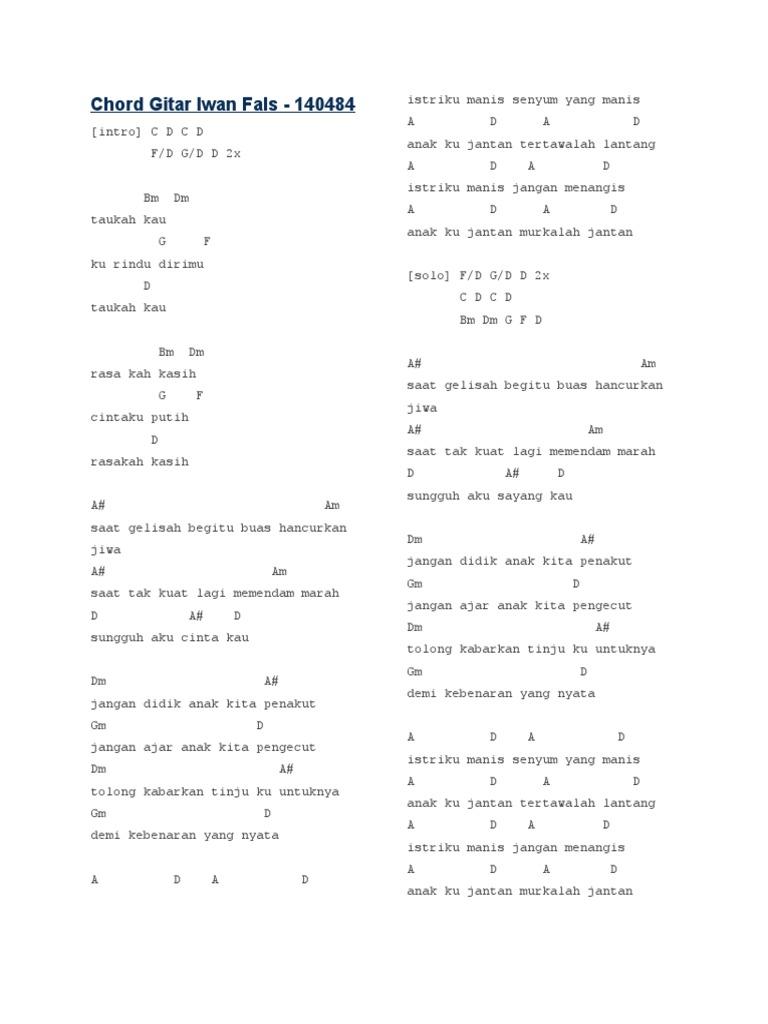 Chord Gitar Iwan Fals