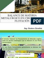 Balance Metalúrgico en Circuitos de Flotación