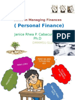 Beginner's Guide in Managing Finances