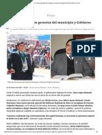 Ellos Son Los Nuevos Gerentes Del Municipio y Gobierno Regional de Puno _ Diario Correo