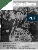 Internacionalismo, A+¦o II, N+¦mero 3, Agosto 1981