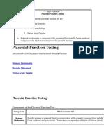 Placental Function Testing