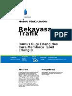 Modul 10   Rumus Rugi Erlang dan Tabel Erlang B.docx