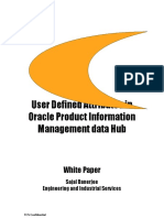 User Defined Attributes in Oracle PIM