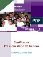 Documento de Presentacion Sobre El Clasificador Presupuestario
