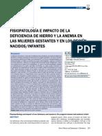 Fisiopatologia e Impacto Deficiencia Hierro-embarazo