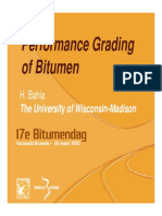 Performance Grading of Bitumen