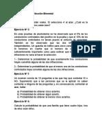 Ejercicios de Distribución Binomial