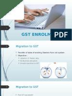 GST Enrolment/Migration of Existing Assessees
